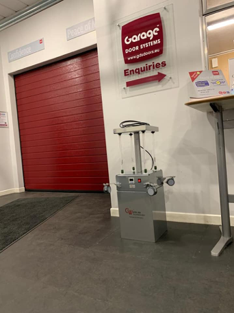 Steriliser in Garage Door Systems